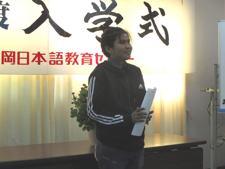 2020年1月8日に2020年1月生の入学式を行いました。