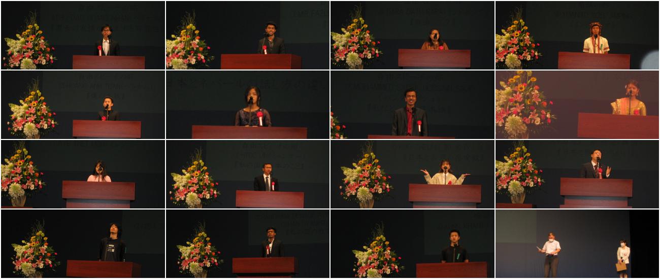2020年度日本語スピーチコンテストを開催しました。